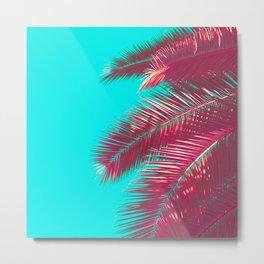 Neon Palm Metal Print