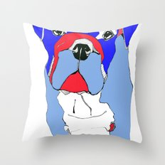 Britishy Bulldog Throw Pillow
