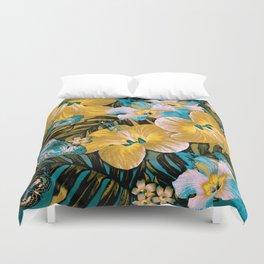 Golden Vintage Aloha Duvet Cover