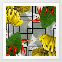 Tropical Squares Art Print
