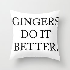 Gingers Do It Better Throw Pillow