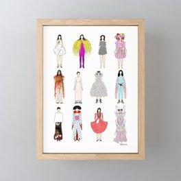 Outfits of Bjork Fashion Framed Mini Art Print