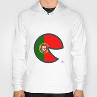 portugal Hoodies featuring Portugal Smile by onejyoo