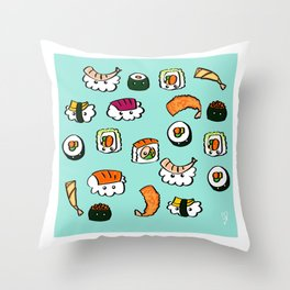 Sushi Cloud Throw Pillow