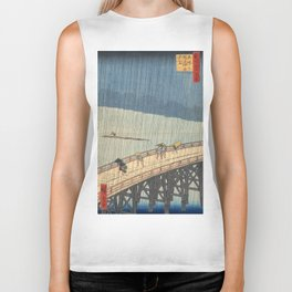 Sudden Shower over Shin-Ohashi Bridge, Hiroshige Biker Tank