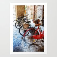 bicycles Art Prints featuring Bicycles by Elliott's Location Photography