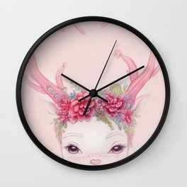 DEER GIRL Wall Clock