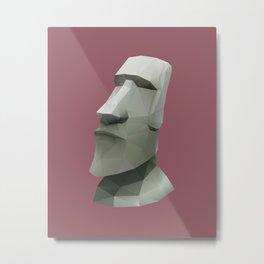 Moai Polygon Art Metal Print