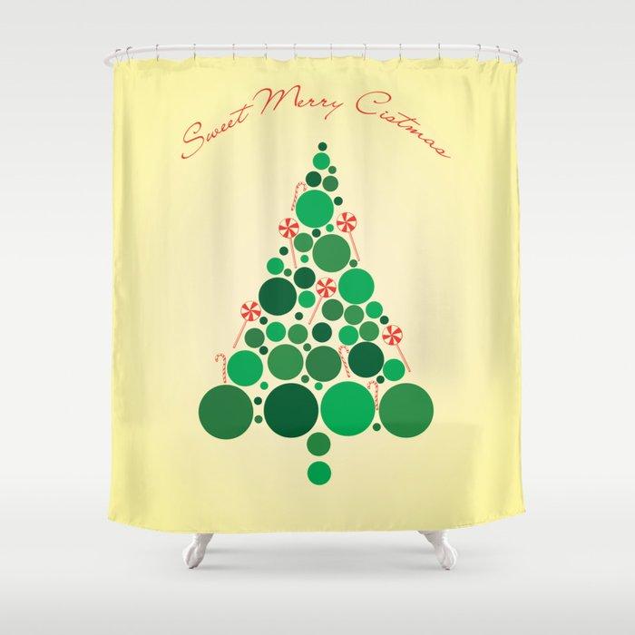 Christmas card Shower Curtain
