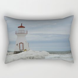 Frozen Lighthouse Rectangular Pillow