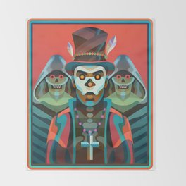 Baron Samedi Throw Blanket