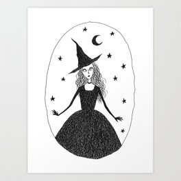 Starry Witch Art Print