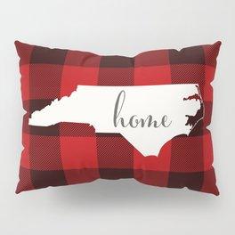 North Carolina is Home - Buffalo Check Plaid Pillow Sham