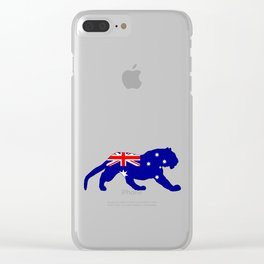 Australian Flag - Tiger Clear iPhone Case