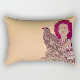 Falcon Lady Rectangular Pillow