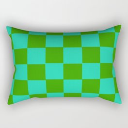 Green & Turquoise Chex 2 Rectangular Pillow