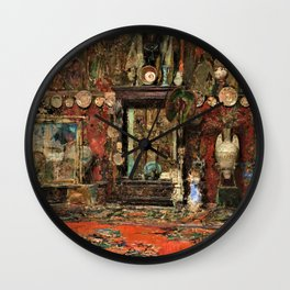 Mariano Fortuny's Studio In Rome - Digital Remastered Edition Wall Clock