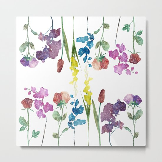 Color Flowers Metal Print