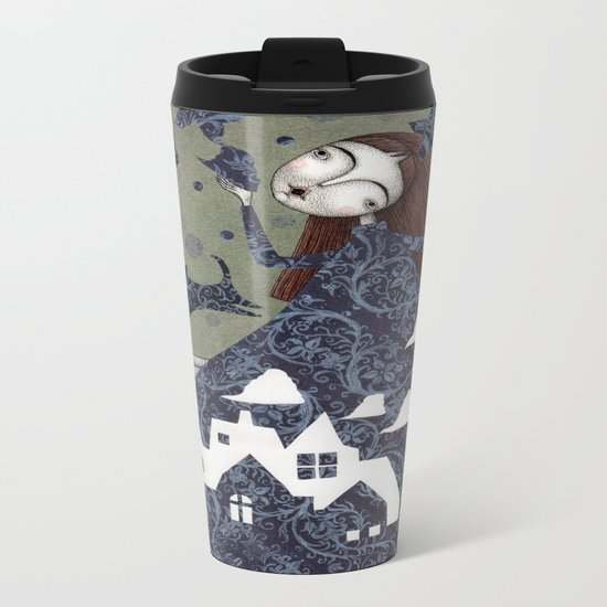 Clouds in May, Time to Play Metal Travel Mug