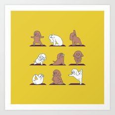 Poodle Yoga Art Print
