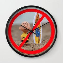 Charlie Don't Surf Wall Clock