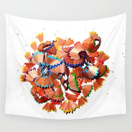 Pencil shavings Wall Tapestry