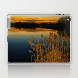 Nature Landscape Photography - Sunset at Reedy Point Pond Laptop & iPad Skin