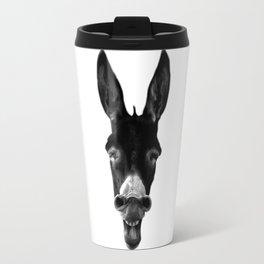 B&W Laughing Donkey Travel Mug