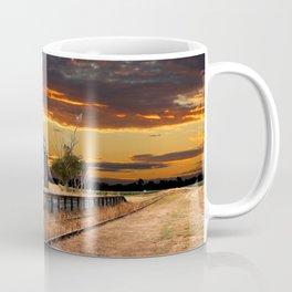 Sunset at the Coonawarra Rail Station Coffee Mug