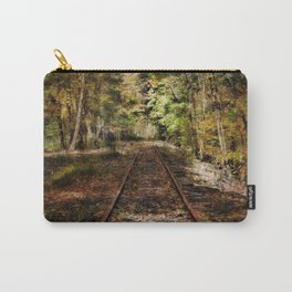 Forward Along the Railroad Tracks Carry-All Pouch