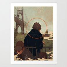 Centralized Talks Art Print