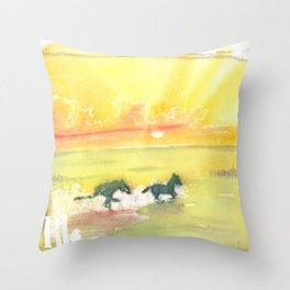 splash of sun Throw Pillow