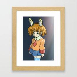 Bunny Girl Framed Art Print
