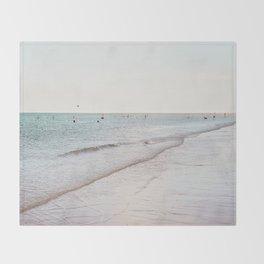 Beach day in Britain Throw Blanket