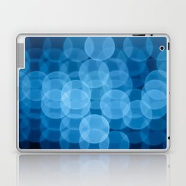 circles light blue Laptop & iPad Skin