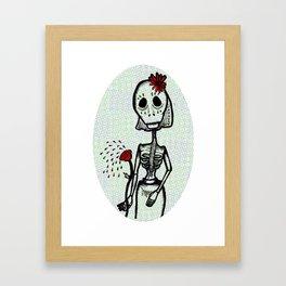 Love and bones Framed Art Print
