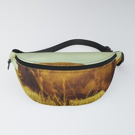 Vintage Bison - Buffalo on the Oklahoma Prairie Fanny Pack