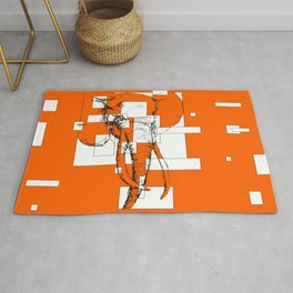 Orange is the New Elephant Rug