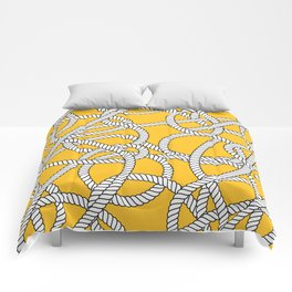 Nautical Yellow Rope Pattern Repeat Comforters