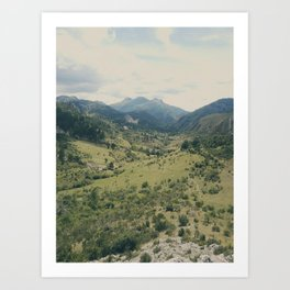 Into the Valley Art Print