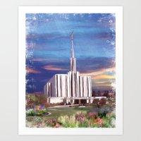 Seattle Washington LDS Temple Art Print