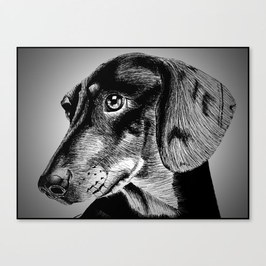 oh my dog ! Canvas Print