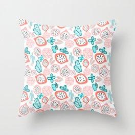 Pitahaya and Cactus Garden Throw Pillow