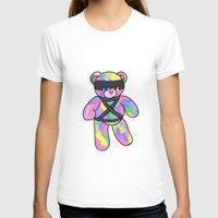 bondage T-shirts featuring Rainbow Bondage Bear by clevernessofyou