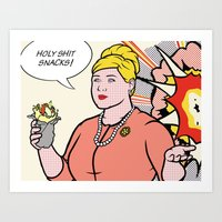 lichtenstein Art Prints featuring Pam Lichtenstein by turantuluy