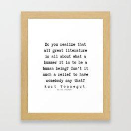 41  | Kurt Vonnegut Quotes | 191006 Framed Art Print