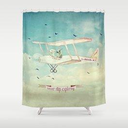 ALPACAS EXPLORING III - THE SKY Shower Curtain