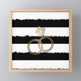 Gold Wedding Rings Framed Mini Art Print