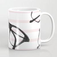 frames Mugs featuring Frames & Stripes by Georgiana Paraschiv