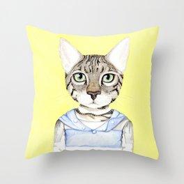 Savanah Young Cat Throw Pillow